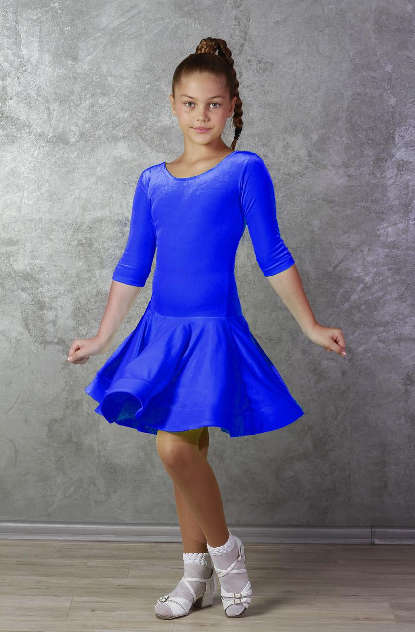 Рейтинговое платье Бейсик для бальных танцев Sevenstore 9147 Электрик