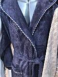Чоловічий Халат Графітового Кольору Бамбуковий Bellezza By Ebru № 7034 Туреччина, фото 6