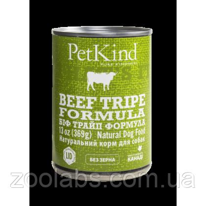 Консервы PetKind для собак с говядиной и говяжьим рубцом | PerKind Beef Tripe Formula 369 грамм