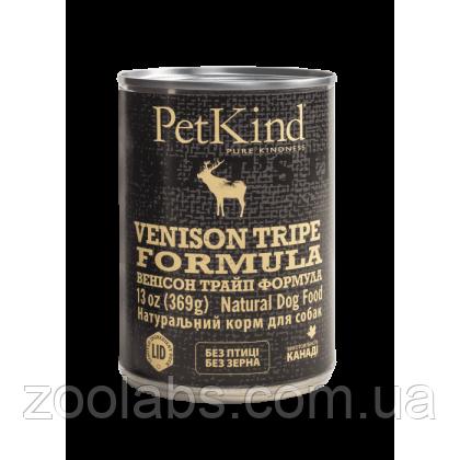 Консервы PetKind для собак с олениной, говядиной и говяжьим рубцом   PerKind Venison Tripe Formula 369 грамм