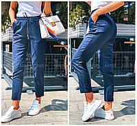Жіночі літні штани з котону на гумці