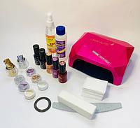 Стартовый набор для покрытия ногтей гель-лаком Tertio с лампой Diamond