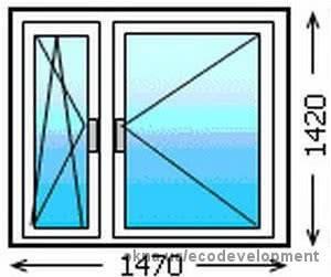 Окно 1470 х 1420 Бесплатная доставка по всей територии Украины!