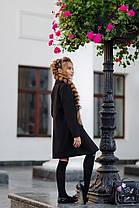 Стильное красное подростковое пальто из кашемира на рост 134-152 чёрный, фото 2
