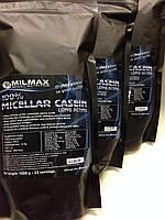MILMAX Казеин мицеллярный ночной протеин длительного действия. Спортивное питание 1кг