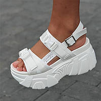 Босоножки сандалии женские белые на платформе (код 1254) - жіночі босоніжки сандалі на платформі білі