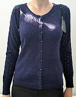 Кофта темно-синяя на пуговицах, фото 1