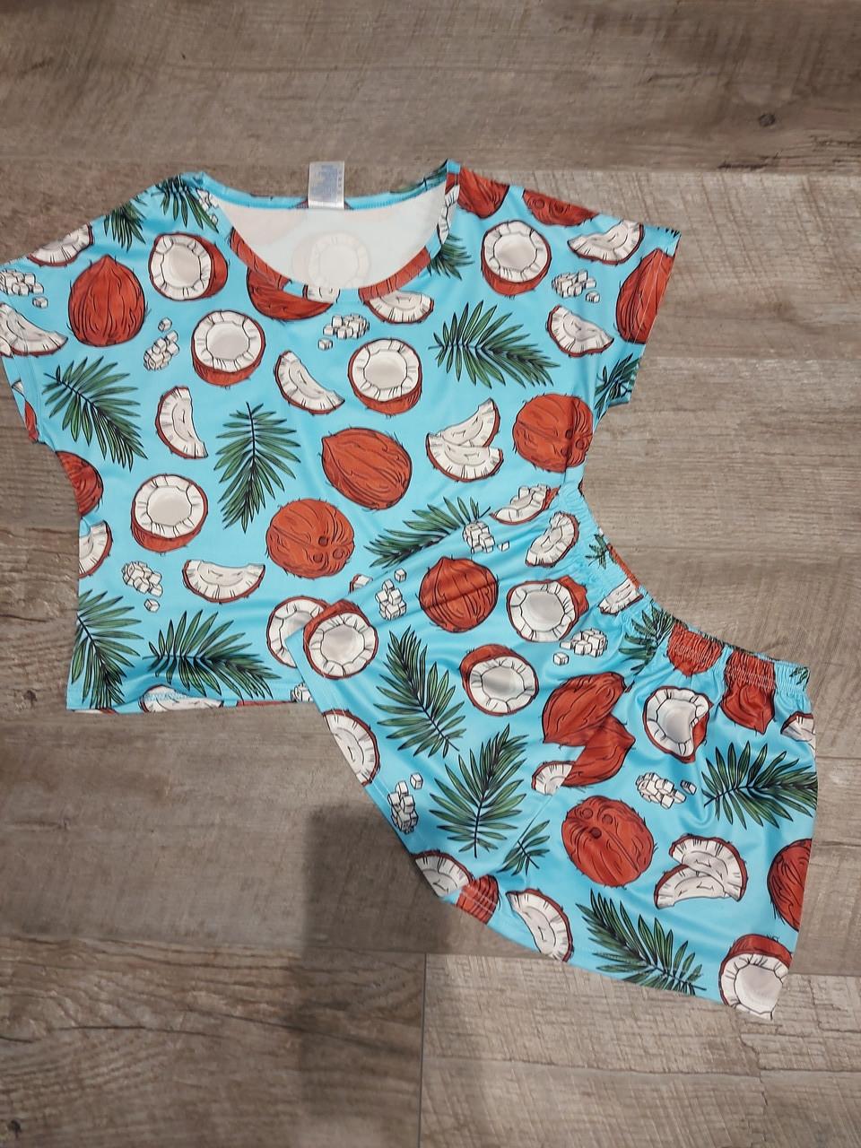 Молодежная пижама топик + шорты