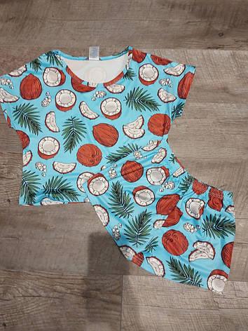 Молодежная пижама топик + шорты, фото 2
