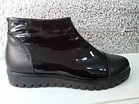 Ботинки женские лаковые . Ботинки для автоледи