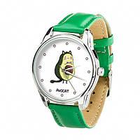 Часы Ziz Авокот с дополнительным ремешком, ремешок изумрудно-зеленый, серебро SKL22-228862