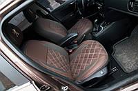 Модельные авточехлы на Peugeot 301, 2012г. Нубук Экокожа Алькантара ML