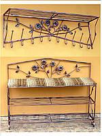 Мебель в прихожую (кованая банкетка и вешалка ) 2