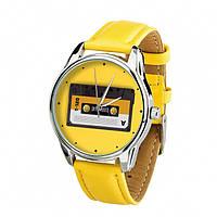 Часы Ziz Кассета с дополнительным ремешком, ремешок лимонно-желтый, серебро SKL22-228874