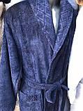 Чоловічий Халат Світло-Сірого Кольору Бамбуковий Bellezza By Ebru № 7029 Туреччина, фото 8