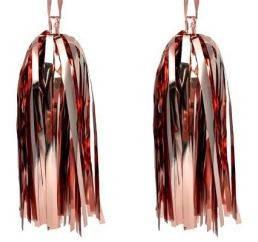 Бумажная гирлянда тассел из фольгированных  кисточек  розовое золото 5 шт) длина  кисточки 35 см