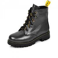 Ботинки для девочек кожаные Осень- флис Зима- набивная шерсть размер 28-35