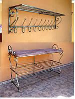Мебель в прихожую (кованая банкетка и вешалка ) 4