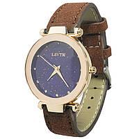 ➚Часы наручные LSVTR Fashion Brown женские кварцевые с мягким браслетом