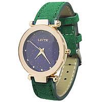 ➢Часы наручные LSVTR Fashion Green кварцевые для девушек закаленное стекло мягкий браслет
