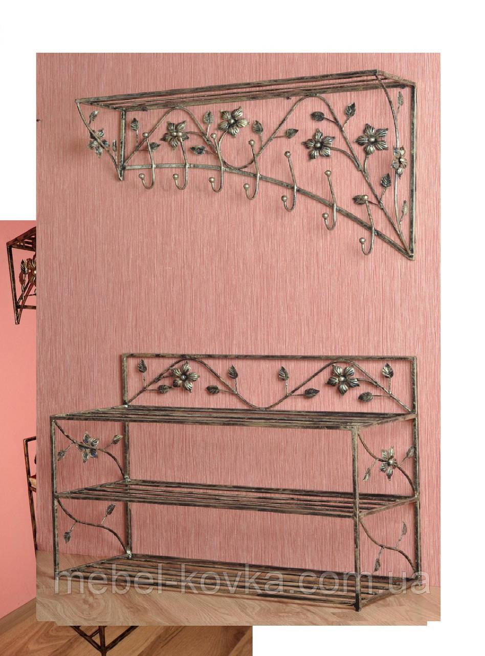 Мебель в прихожую (кованая банкетка и вешалка ) 8