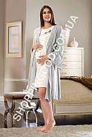 Комплект ночнушка и халат для беременных Shirly 5968, пижама женская
