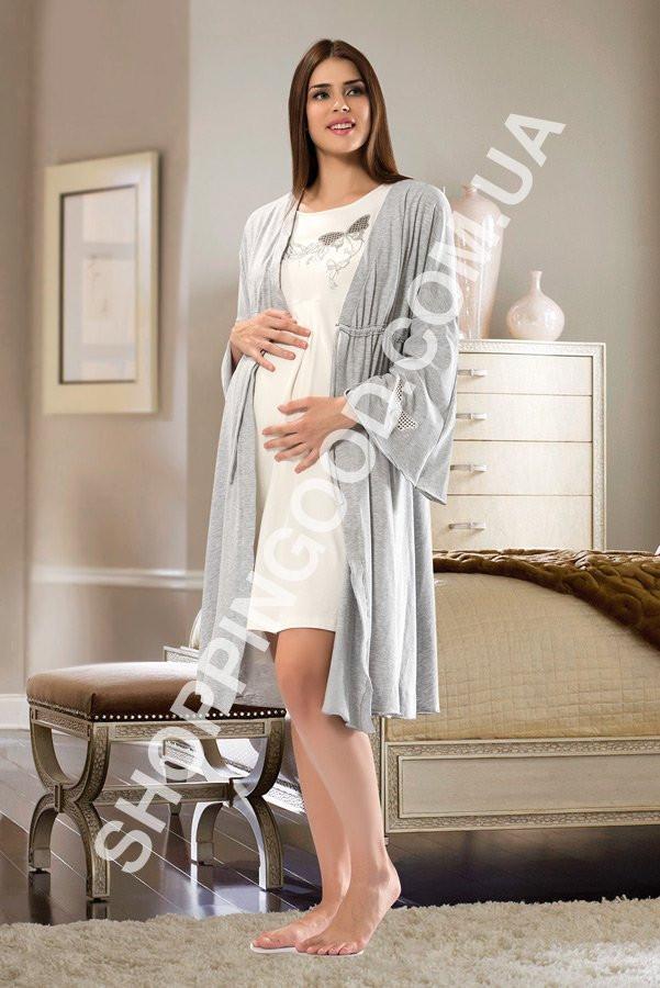 Комплект ночнушка и халат для беременных Shirly 5968 639baf3090dcc