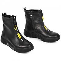 Ботинки для девочек кожаные Осень- флис Зима- набивная шерсть размер 32-39