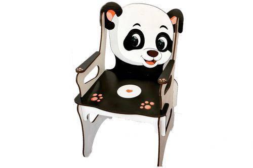 """Стульчик детский """"Панда"""", деревянный 0527, фото 2"""