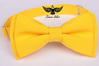 Галстук-бабочка желтая