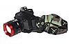 Ультрафиолетовый аккумуляторный налобный фонарь BL-6903-2 с зарядкой, фото 6