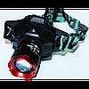 Ультрафиолетовый аккумуляторный налобный фонарь BL-6903-2 с зарядкой, фото 7