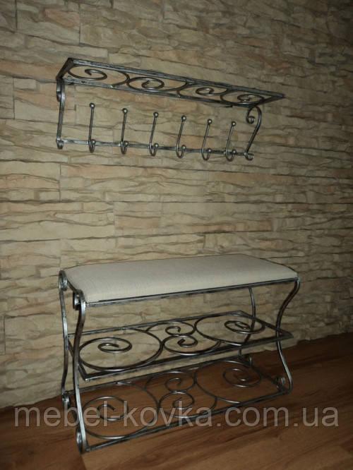 Мебель в прихожую (кованая банкетка и вешалка ) 13