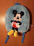 Детский рюкзачек маленький для детского садика с Микки Маусом, фото 3