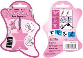 Утримувач дроту для навушників Curvyman рожевий Nite Ize