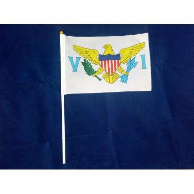 Прапорець Американських Віргінських островів 14х21см на пластиковому флагштоку