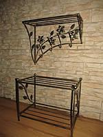 Мебель в прихожую (кованая банкетка и вешалка ) 14
