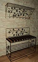Мебель в прихожую (кованая банкетка и вешалка ) 15