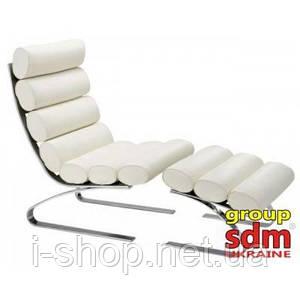 Крісло для відпочинку з отоманкою для ніг Конкорд, колір білий