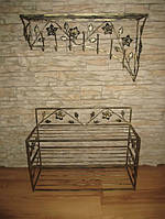 Мебель в прихожую (кованая банкетка и вешалка ) 16
