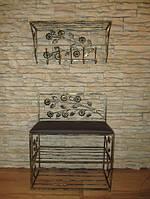 Мебель в прихожую (кованая банкетка и вешалка ) 17