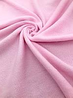 Флис, флисовая ткань (ш 160 см) цвет розовый для пошива взрослой и детской одежды,поделок, кукол.
