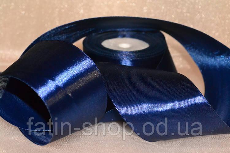 Атласная лента 5см цв.тм-синий