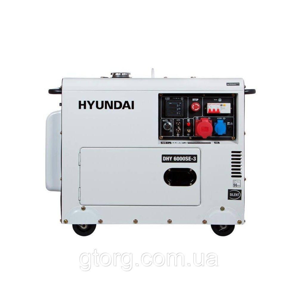 Генератор Hyundai DHY 6000 SE 3