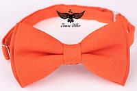 Галстук-бабочка ярко-оранжевая