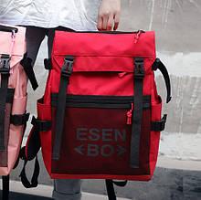 Вместительный подростковый красный рюкзак для подростка женский, мужской школьный для старших классов