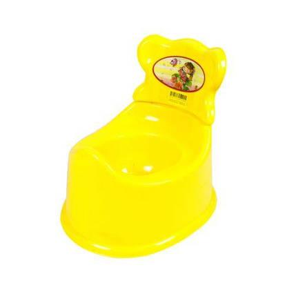 Горшок детский со спинкой (желтый) KW-25-002