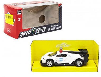 """Машинка металлическая """"Bugatti"""" белая AS-2103"""