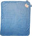 Осінній весняний комплект конверт на виписку хлопчику 90х100 для новонароджених з вушками махровий блакитний, фото 4