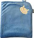 Осінній весняний комплект конверт на виписку хлопчику 90х100 для новонароджених з вушками махровий блакитний, фото 3